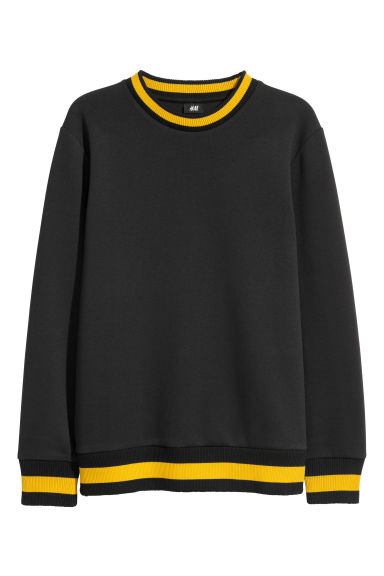 Scuba sweatshirt - Black -  | H&M