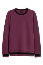 Sweater van scuba - Bordeauxrood - HEREN | H&M NL 2