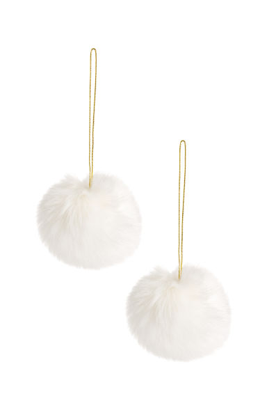 Décorations de Noël, lot de 2 - Blanc - HOME | H&M CH 1