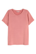 Glossy jersey top - Pink - Ladies | H&M IE 2