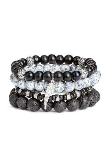 4-pack bracelets - Black/Multicoloured - Men | H&M 1