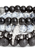 4-pack bracelets - Black/Multicoloured - Men | H&M 2