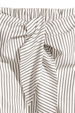 Off-the-shoulder blouse - White/Striped -  | H&M CN 3