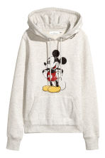 Printed hooded top - Grey/Mickey Mouse - Ladies | H&M 2