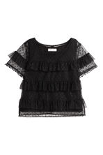Top in tulle con volant - Nero - BAMBINO | H&M IT 2