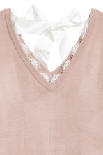 Jumper with lace trims - Powder pink - Ladies | H&M CN 3