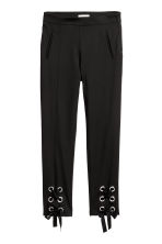 Lace-up trousers - Black - Ladies | H&M 2
