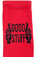 Fine-knit socks - Red - Men | H&M 2