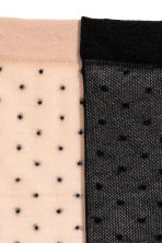 2-pack mesh socks - Black/Spotted - Ladies | H&M CN 2