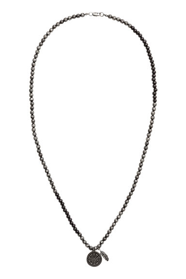 Necklace with Pendants - Silver-colored/black - Men | H&M CA