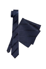 Tie and handkerchief - Dark blue - Men | H&M CN 1
