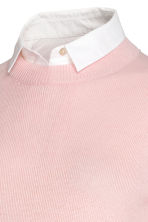MAMA Jumper with a collar - Light pink/White - Ladies | H&M CN 3