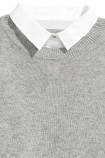 MAMA Jumper with a collar - Grey marl - Ladies | H&M CA 3