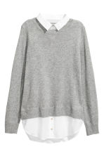 MAMA Jumper with a collar - Grey marl - Ladies | H&M CA 2