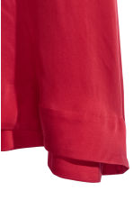 Silk-blend skirt - Dark red - Ladies | H&M CN 3