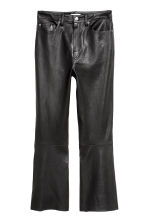 Ankle-length leather trousers - Black - Ladies | H&M GB 2