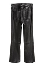 Ankle-length leather trousers - Black - Ladies | H&M GB 3