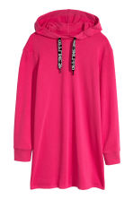 Hooded sweatshirt dress - Cerise - Ladies | H&M CN 2
