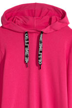 Hooded sweatshirt dress - Cerise - Ladies | H&M CN 4