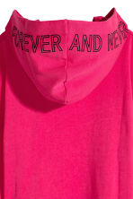 Hooded sweatshirt dress - Cerise - Ladies | H&M CN 3