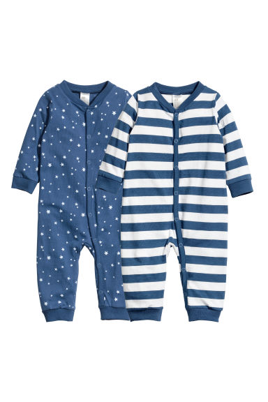 2-pack jersey pyjama suits - Dark blue - Kids | H&M CN