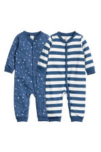 2-pack jersey pyjama suits - Dark blue -  | H&M 1