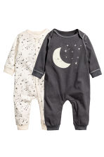 2-pack jersey pyjama suits - Dark grey/Moon -  | H&M 1