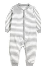 2-pack jersey pyjama suits - Grey/White striped - Kids | H&M 3