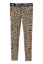 Leggings in jersey - Beige/leopardato - DONNA | H&M IT 2