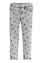 Treggings - Grey/Stars - Kids | H&M CN 2