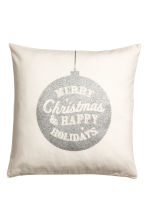 Christmas-print cushion cover - White/Silver-coloured - Home All | H&M CN 1