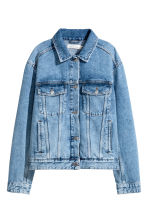 Embroidered denim jacket - Denim blue - Ladies | H&M GB 2
