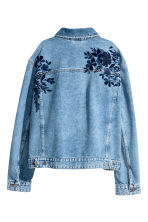Embroidered denim jacket - Denim blue - Ladies | H&M GB 3
