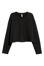 Top corto in jersey - Nero - DONNA | H&M IT 2