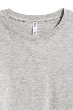 Cropped jersey top - Grey marl - Ladies | H&M CN 3