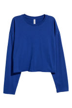 Cropped jersey top - Neon blue - Ladies | H&M 2