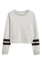 Printed sweatshirt - Light grey marl - Kids | H&M 2