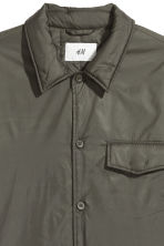 Padded nylon shirt jacket - Khaki green - Men | H&M 3