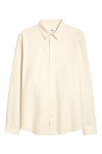 Raw silk shirt - Cream - Men | H&M GB 2