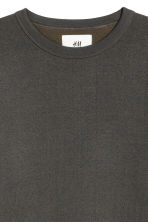 Silk-blend sweatshirt - Dark blue/Green marl - Men | H&M CN 4