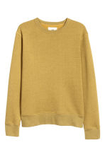 Silk-blend sweatshirt - Green/Yellow marl - Men | H&M 3