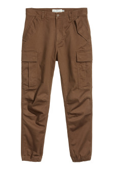 Cotton twill cargo joggers