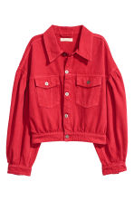 Short denim jacket - Red -  | H&M CN 2