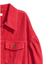 Short denim jacket - Red -  | H&M CN 3