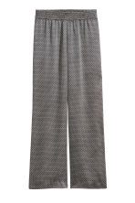 Wide satin trousers - Natural white/Patterned - Ladies | H&M 2