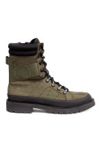 Nylon boots - Khaki green - Men | H&M 1