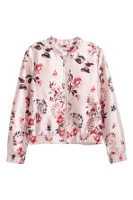 Jacquard-weave Jacket - Light pink/floral - Ladies | H&M CA 2