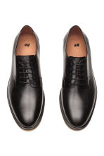 Leather Derby Shoes - Black - Men | H&M CA 2