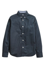 Cotton shirt - Dark blue/Spotted -  | H&M CN 2