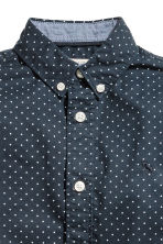Cotton shirt - Dark blue/Spotted -  | H&M CN 4